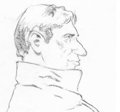Willem Holleeder getekend door Aloys Oosterwijk