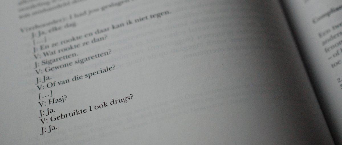 Manuscript 'Onder verdenking'
