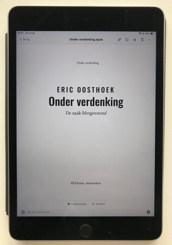 Onder verdenking: ook als e-boek...