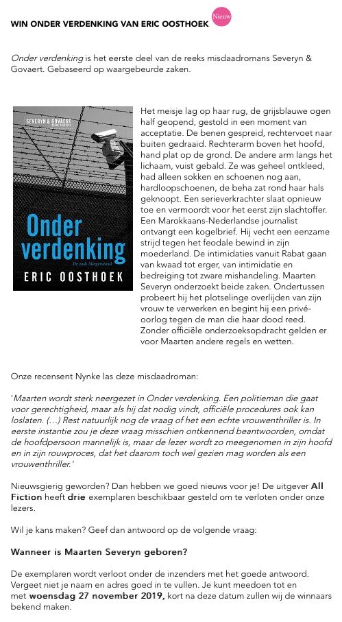 Winactie Vrouwenthrillers.nl