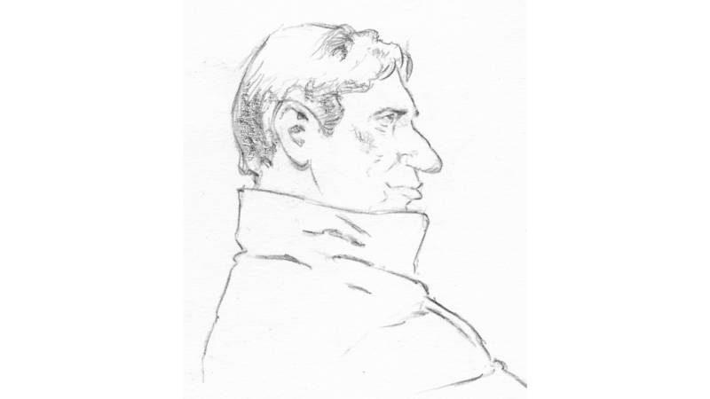 Willem Holleeder getekend door Aloys Oosterwijk.